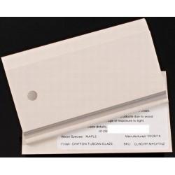 MAPLE CHIFFON/TUSCAN GLAZE - QUALITY CABINETS SAMPLE CHIP