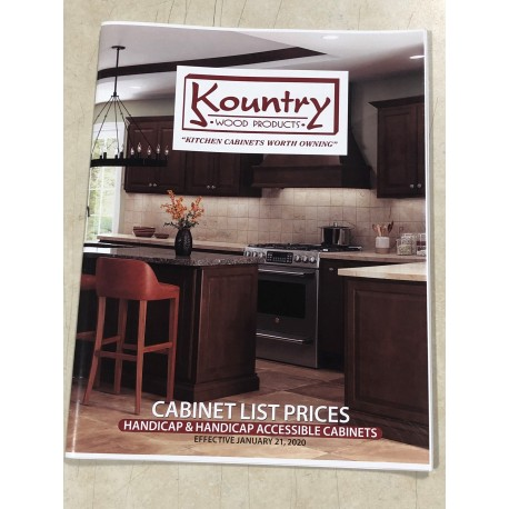 KOUNTRY WOOD PRODUCTS 2020 CABINET LIST PRICES HANDICAP ACCESSIBLE