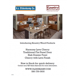LAVA CHERRY IN STOCK FLYER - KOUNTRY WOOD PRODUCTS BROCHURE