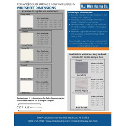 CORIAN SOLID SURFACE WIDE SHEET FLYER - SOUTH