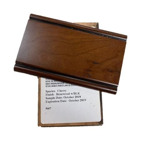 CHERRY BRIARWOOD W BLACK GLAZE - MID CONTINENT SAMPLE CHIP
